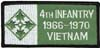 4th Infantry Vietnam Patch - 1966-1970