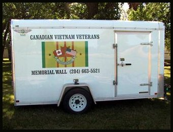 The Canadian Vietnam Veterans Memorial Wall Trailer