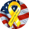 Support Our US Troops Yellow Ribbon