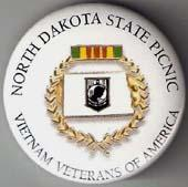 North Dakota V.V.A. State Picnic Button
