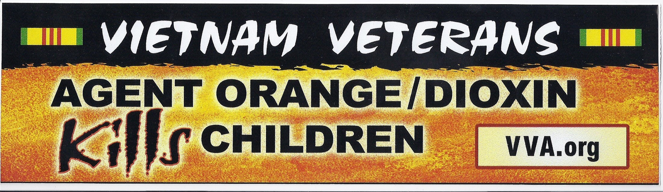 Agent Orange Bumper Sticker