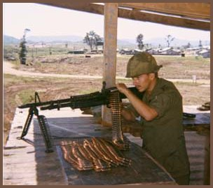 M-60 Machine Gun - 4th Infantry Division - An Khe