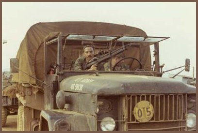 Paul Dufault (7.62mm Machine-Gun) and Larry Page Mail Clerk & Driver of Deuce and a Half Truck) - Americal 23rd Infantry Division